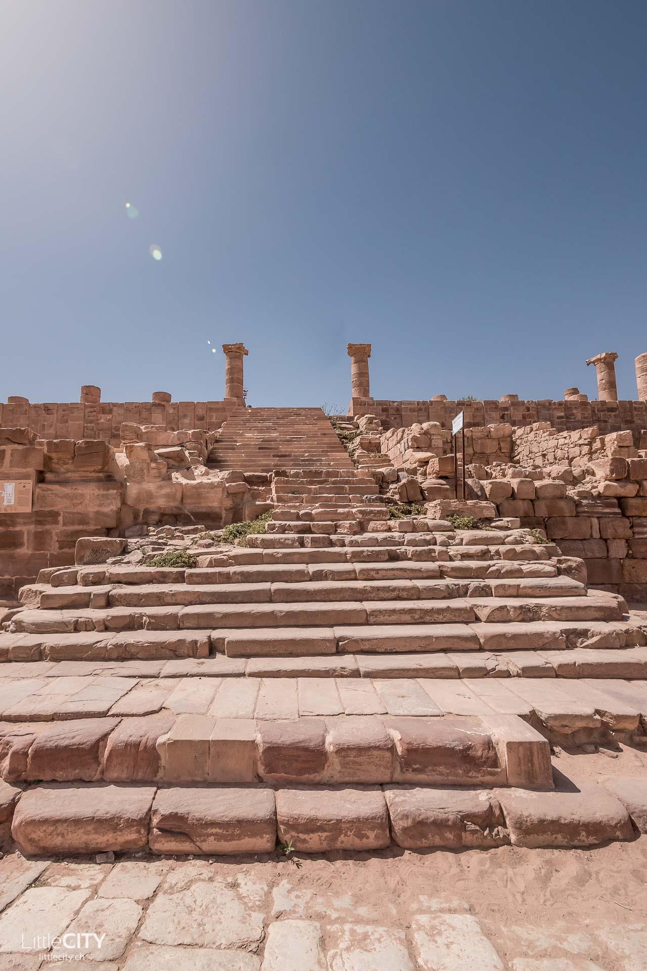 Petra Jordanien Bauwerke Säulen