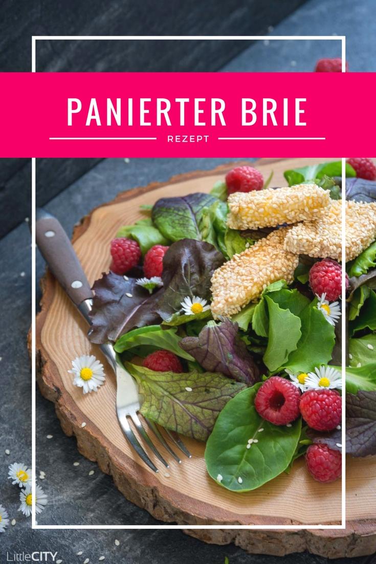 Panierter Brie auf Salat