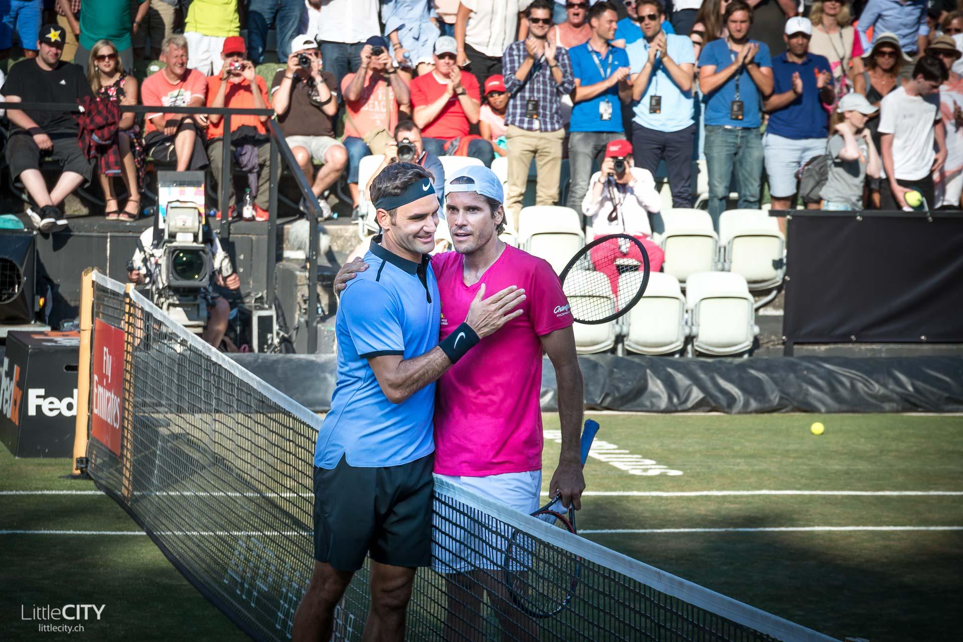 Roger Federer Tony Haas Stuttgart Tennis Cup