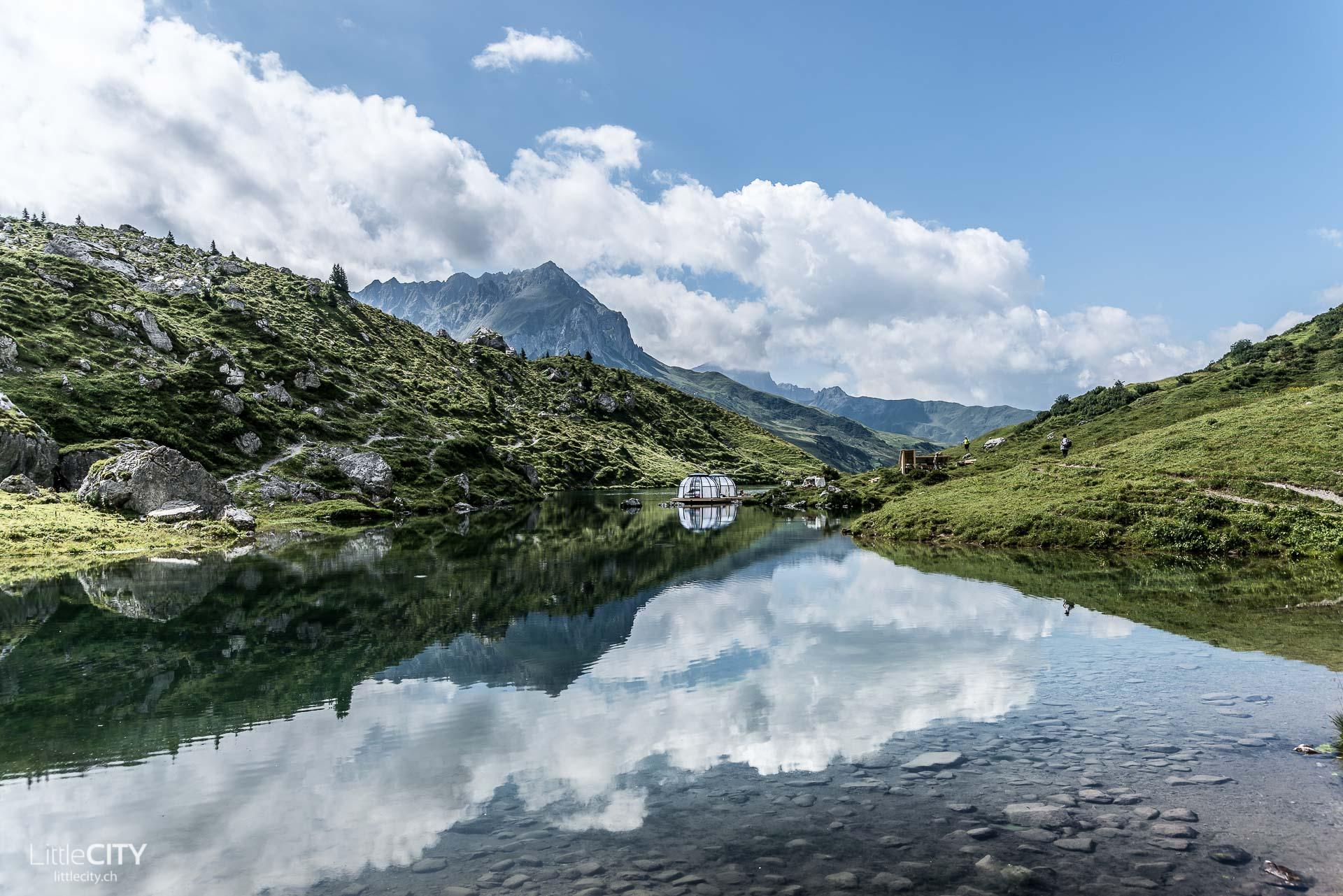 Bergsee-Bungalow, Partnunsee, Prättigau von LittleCITY