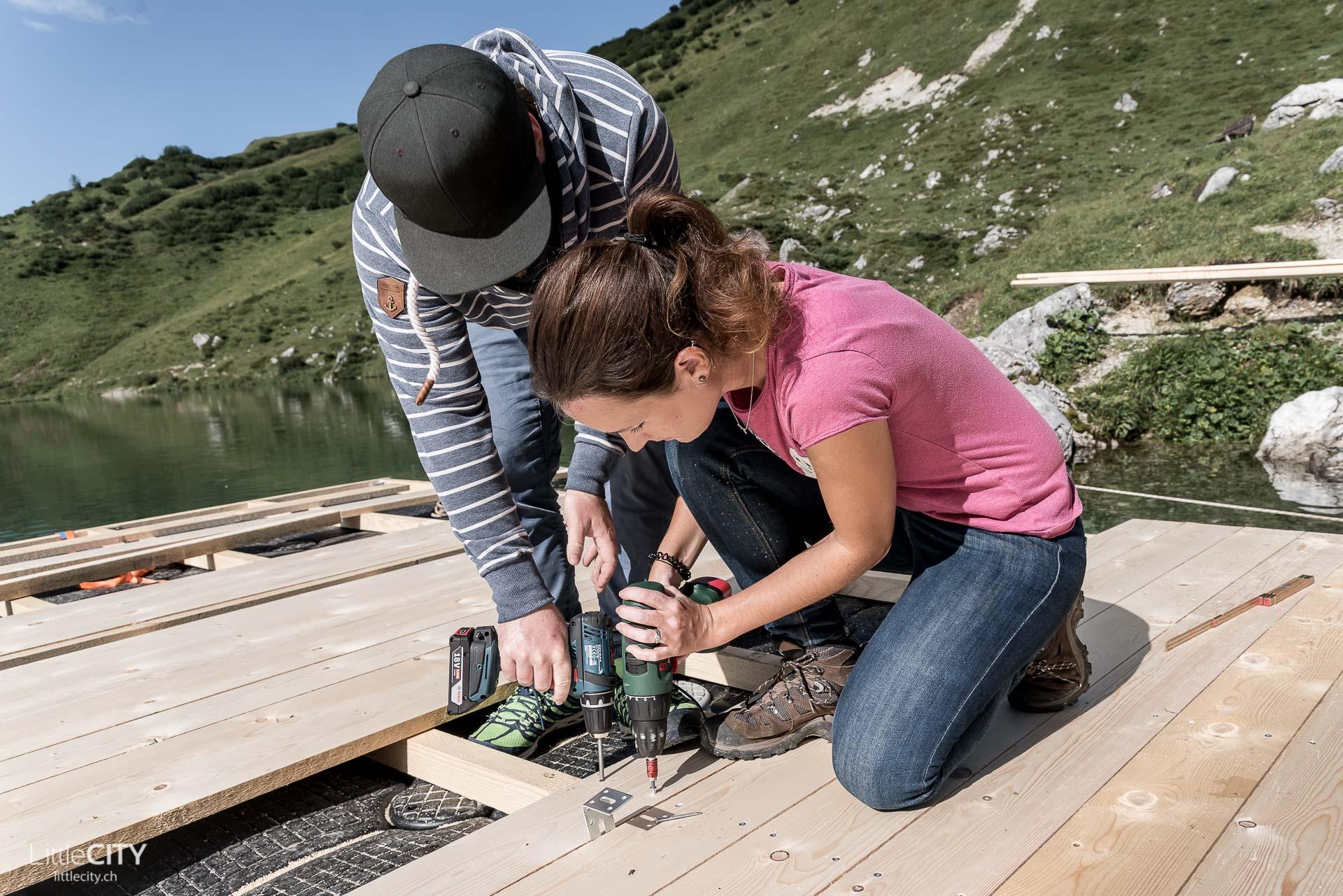 Bergsee Bungalow von LittleCITY.ch Aufbau - Partnunsee