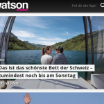 Medienberichtertstattung Bergsee Bungalow Partnunsee