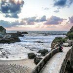 Biarritz Frankreich, Sonnenuntergang