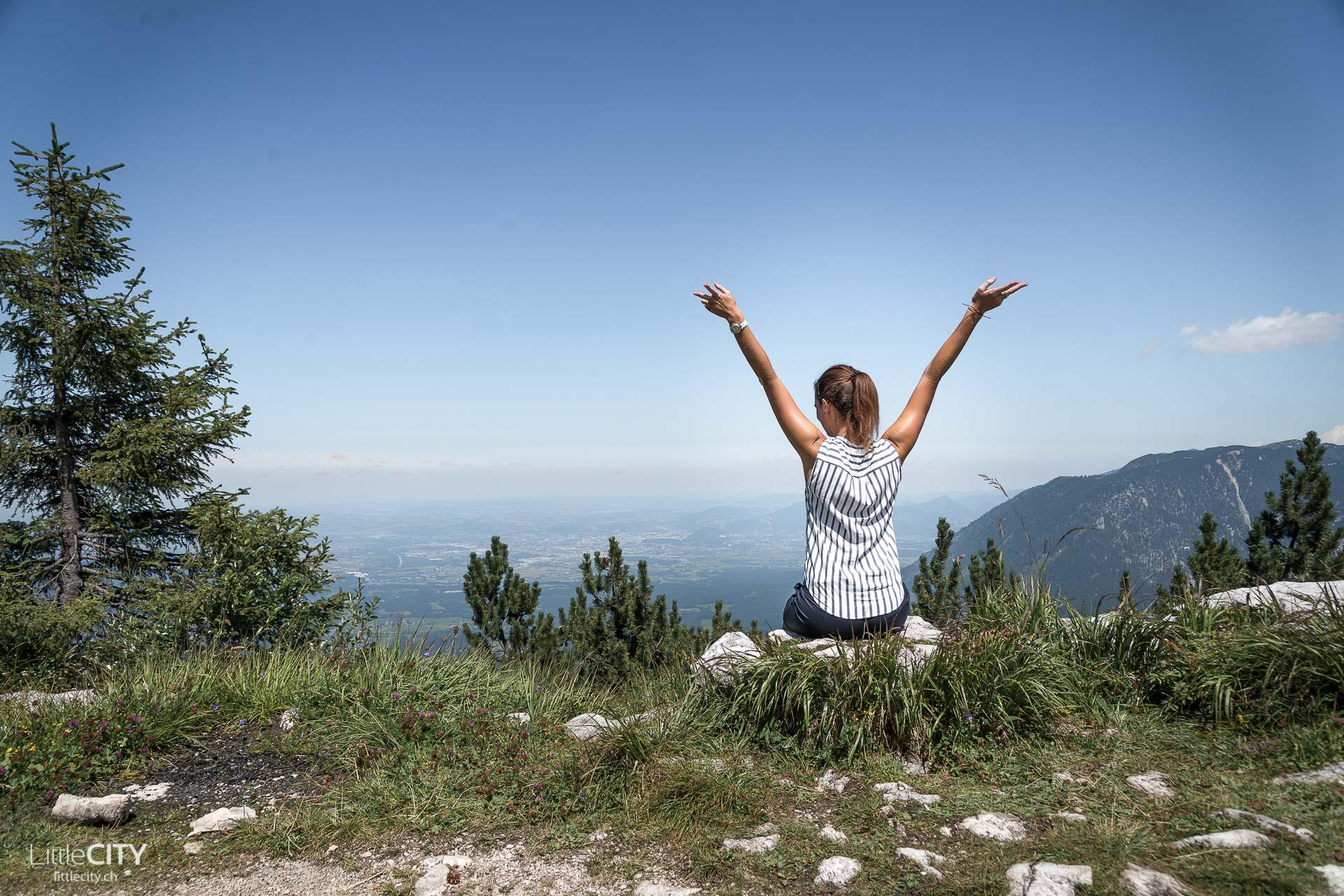 Predigtstuhl Wanderung mit Sicht nach Salzburg
