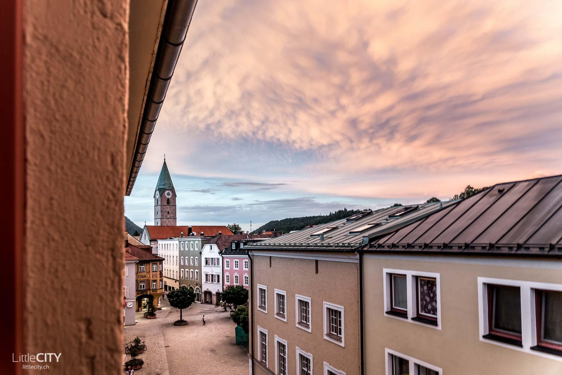 Chiemgau Bad Reichenhall bei Sonnenuntergang