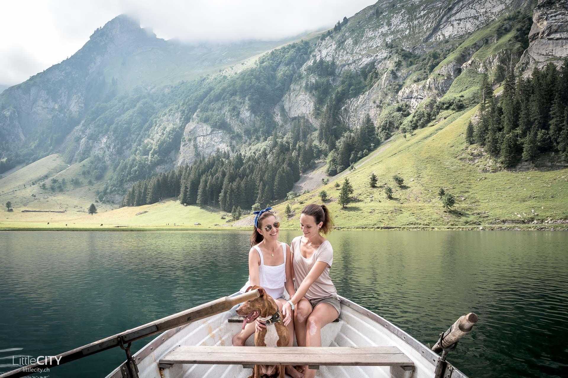 Seealpsee Boot fahren Appenzell Alpstein