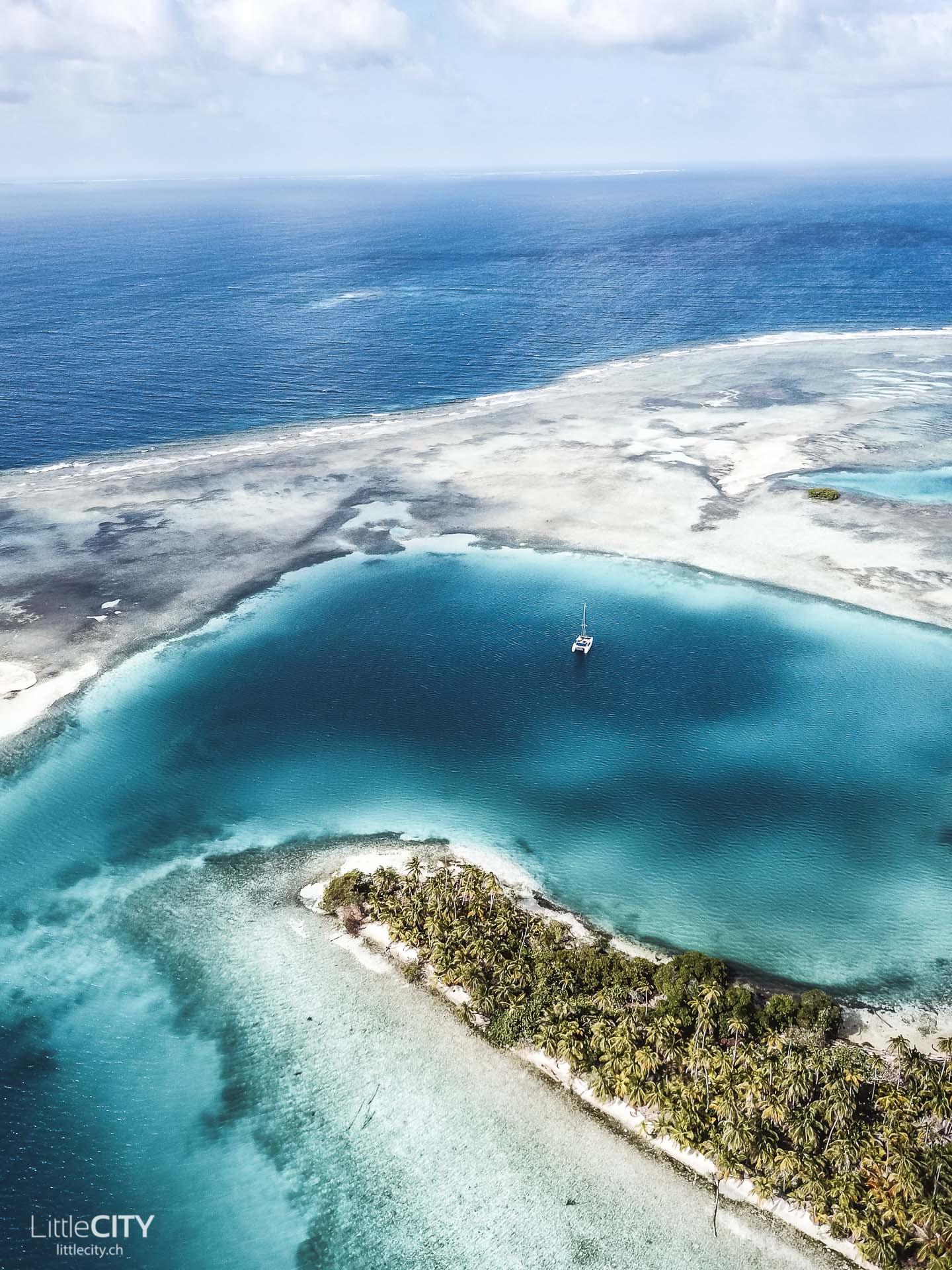 San Blas Inseln Panama Drohnenaufnahme