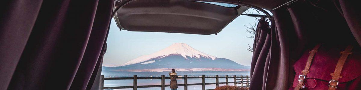 Road Trip in Japan Camper Van Fuji