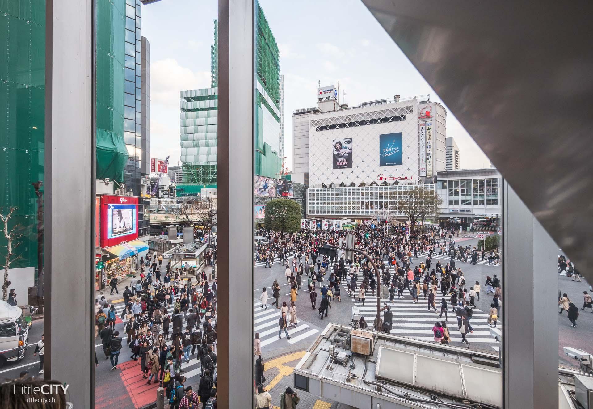 Tokio Shibuya Crossing Aussichtspunkt