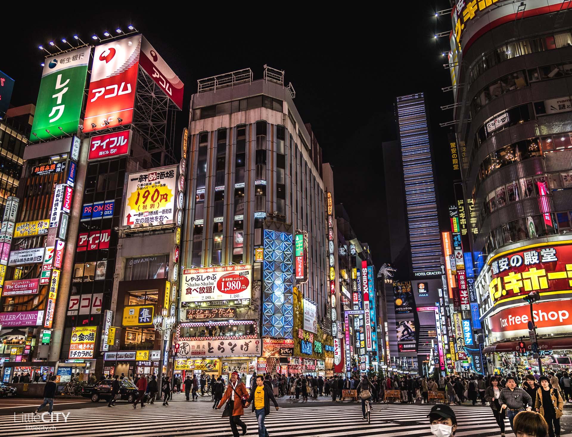 Tokio Reisetipp: Shinjuku in der Nacht