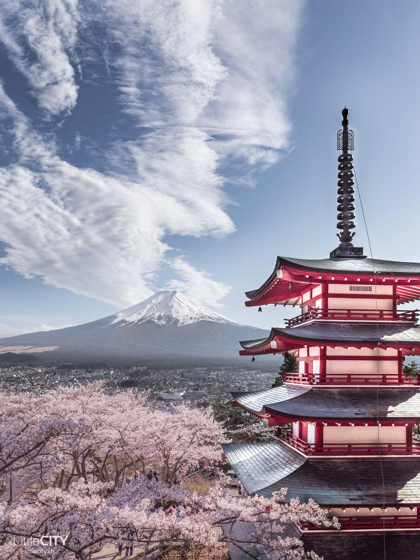 Chureito Pagoda Fujiyoghida Japan Fotospot