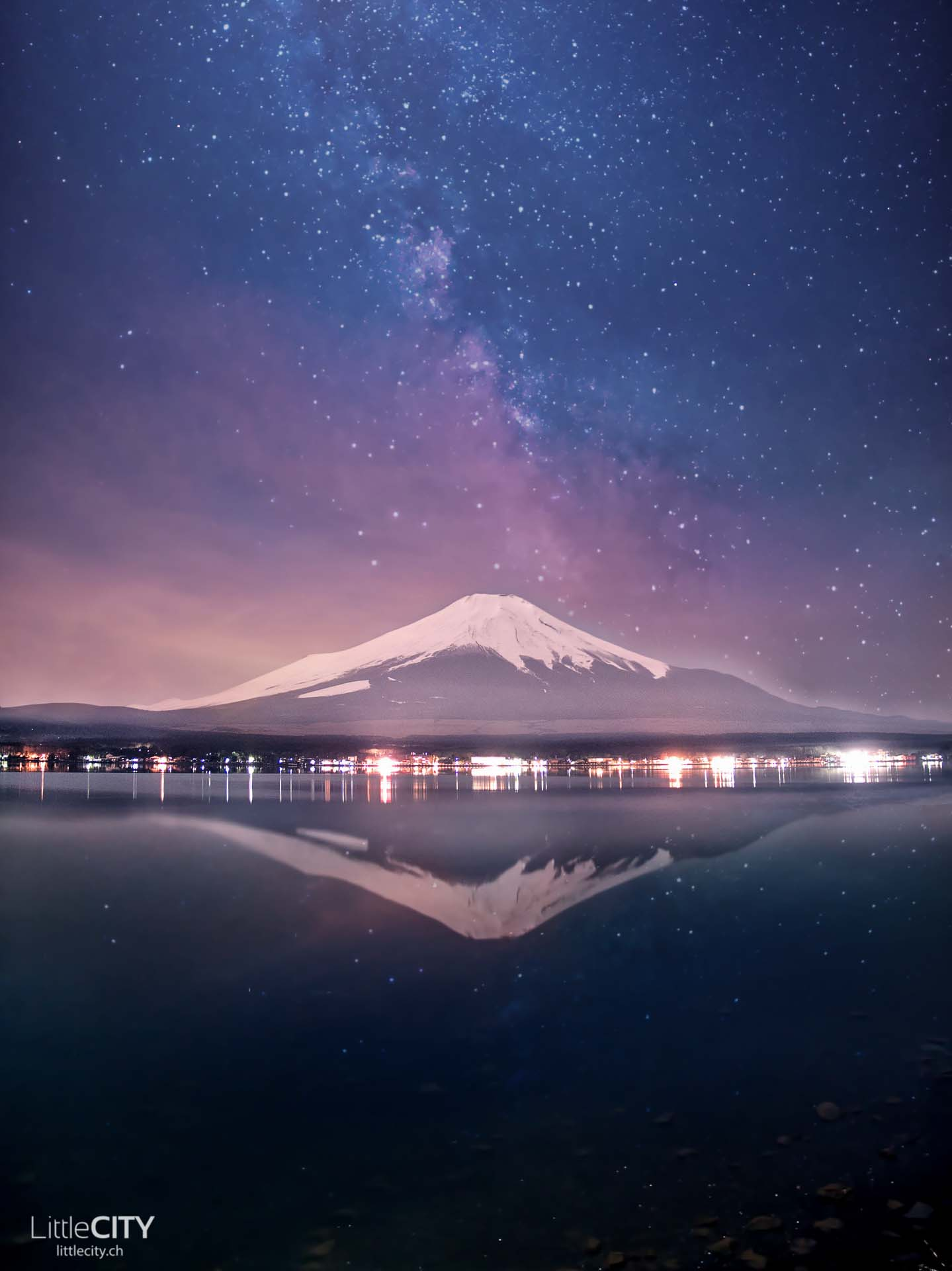 Mount Fuji Yamanakako Milchstrasse