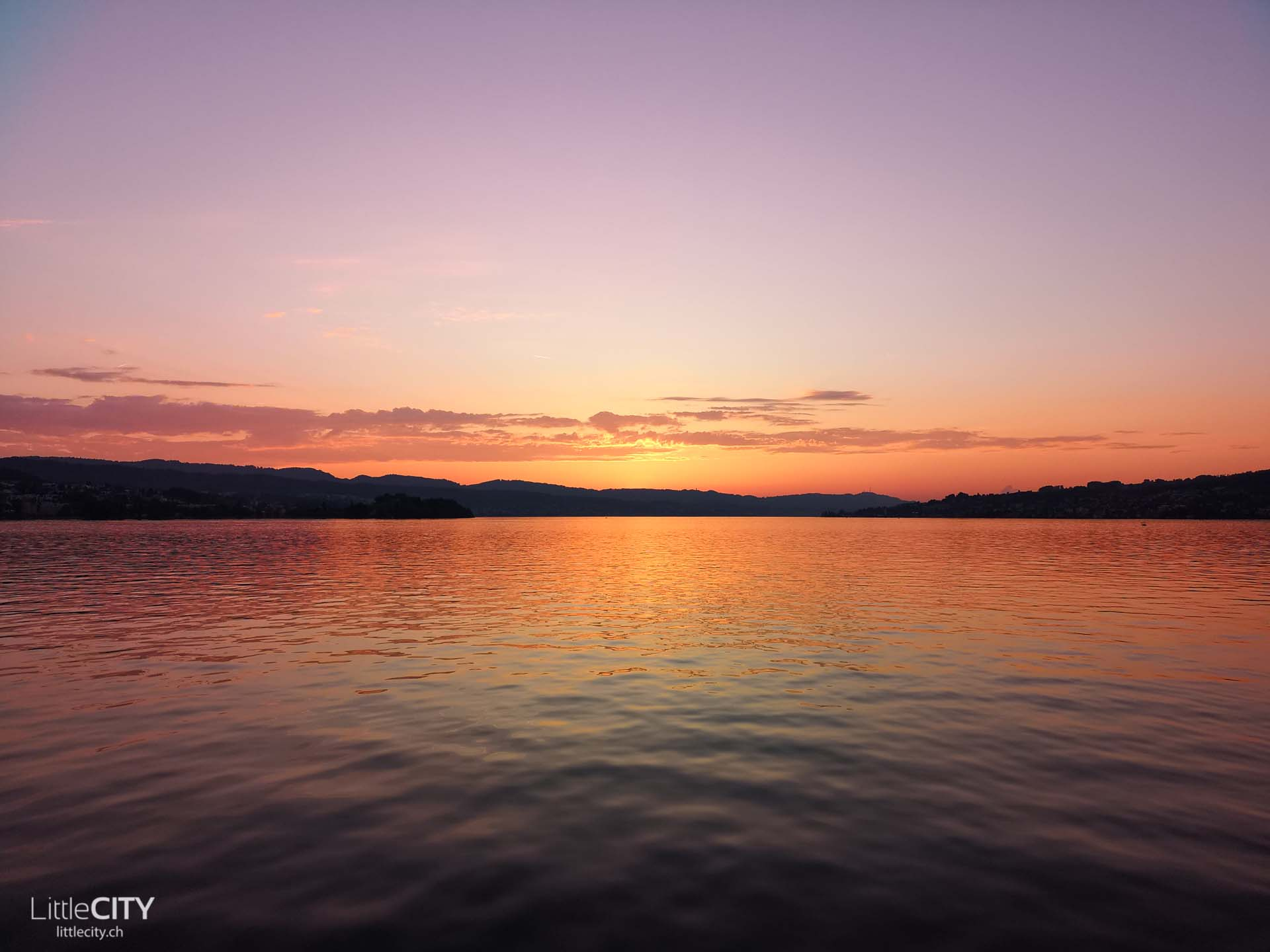 Huawei P20 Pro Zürichsee Schiffahrt Sonnenuntergang