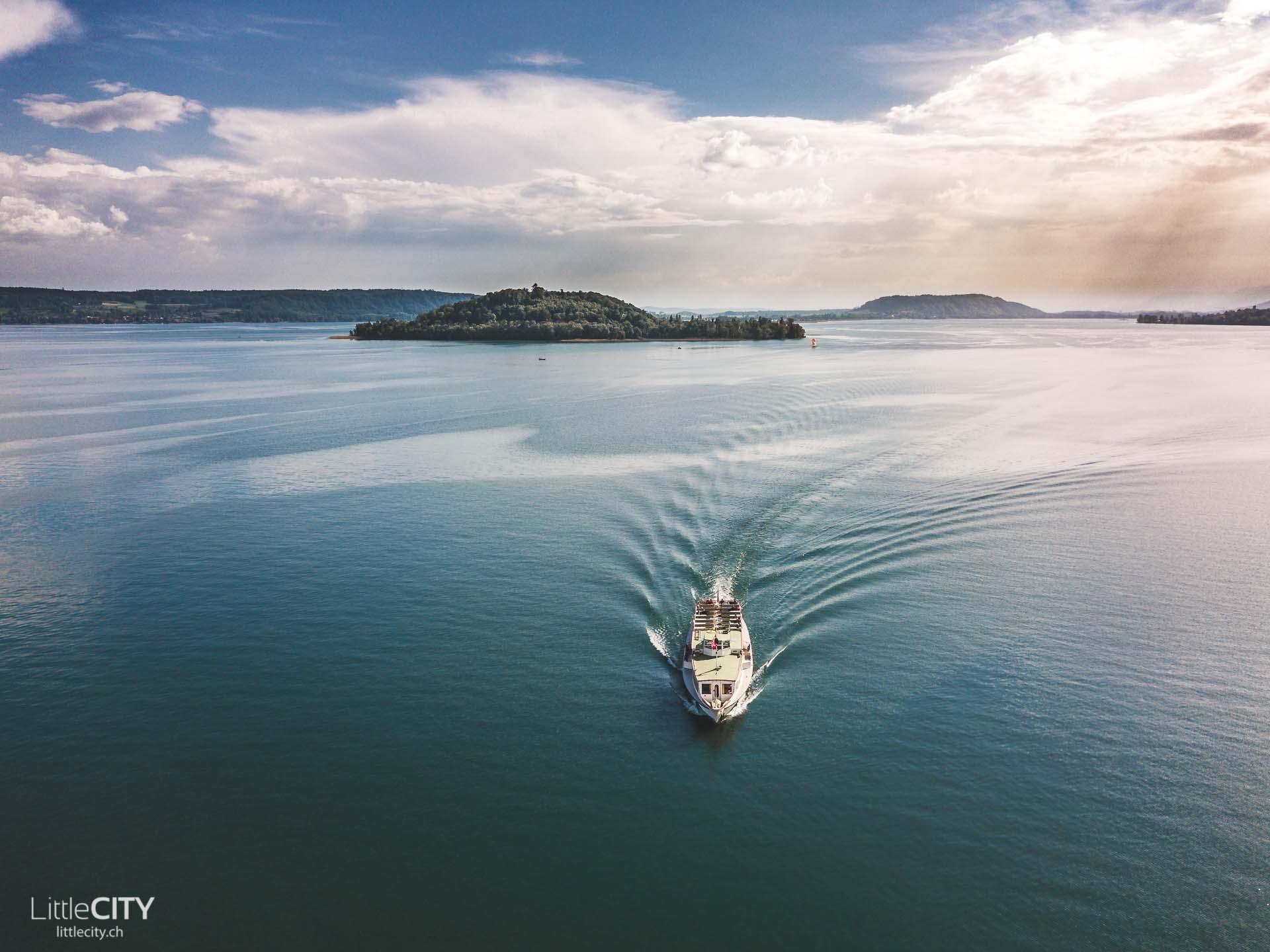 Schiffahrt Bielersee St Petersinsel