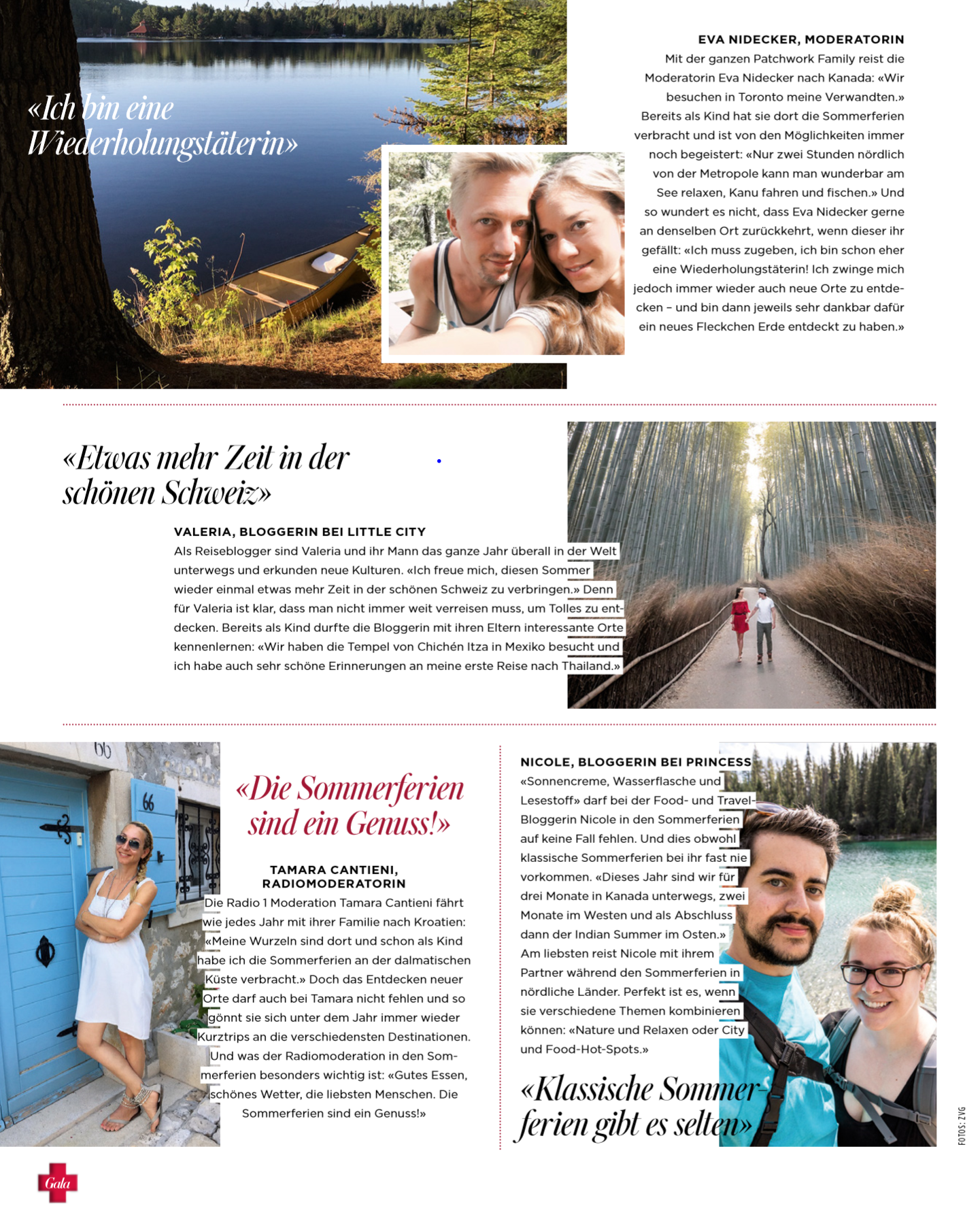 Gala Magazin Schweiz Blogger