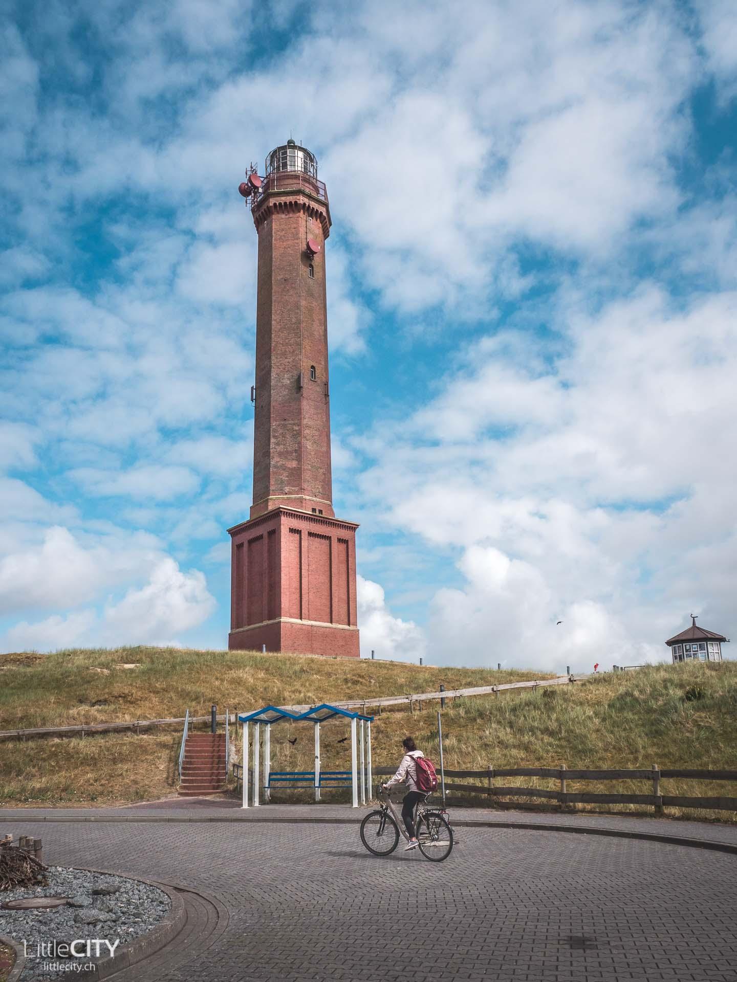 Norderney Reisetipps Leuchtturm mit dem Fahrrad