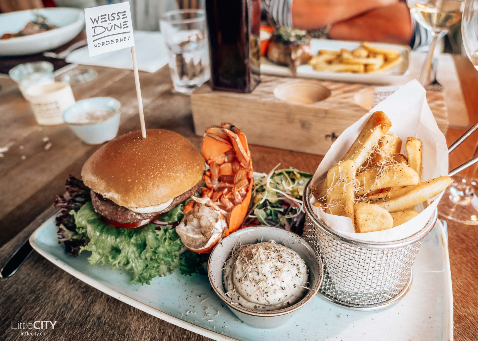 Norderney Weisse Düne Restaurant Burger