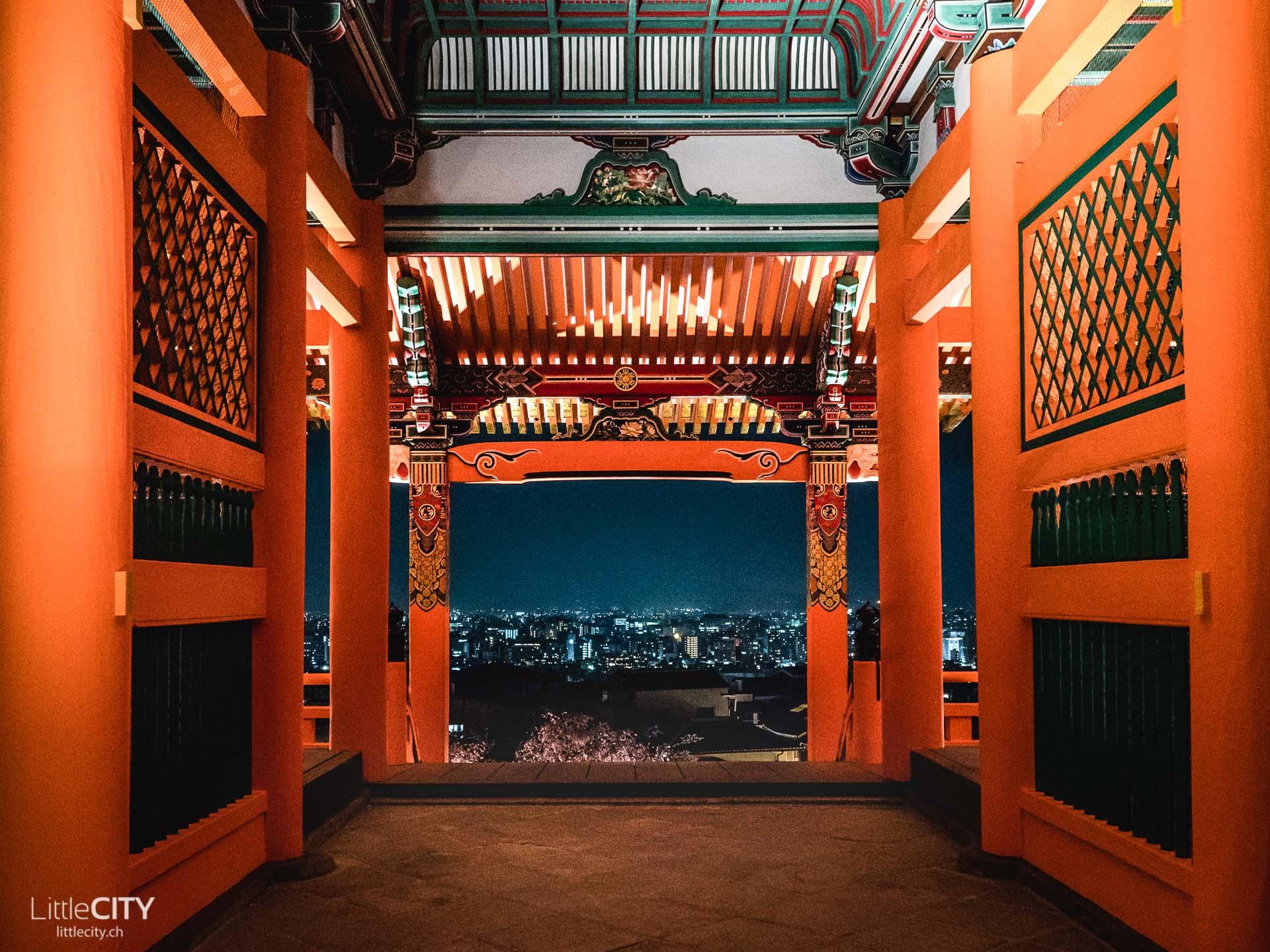 Kyoto Kiyomizu dera Tempel Nacht