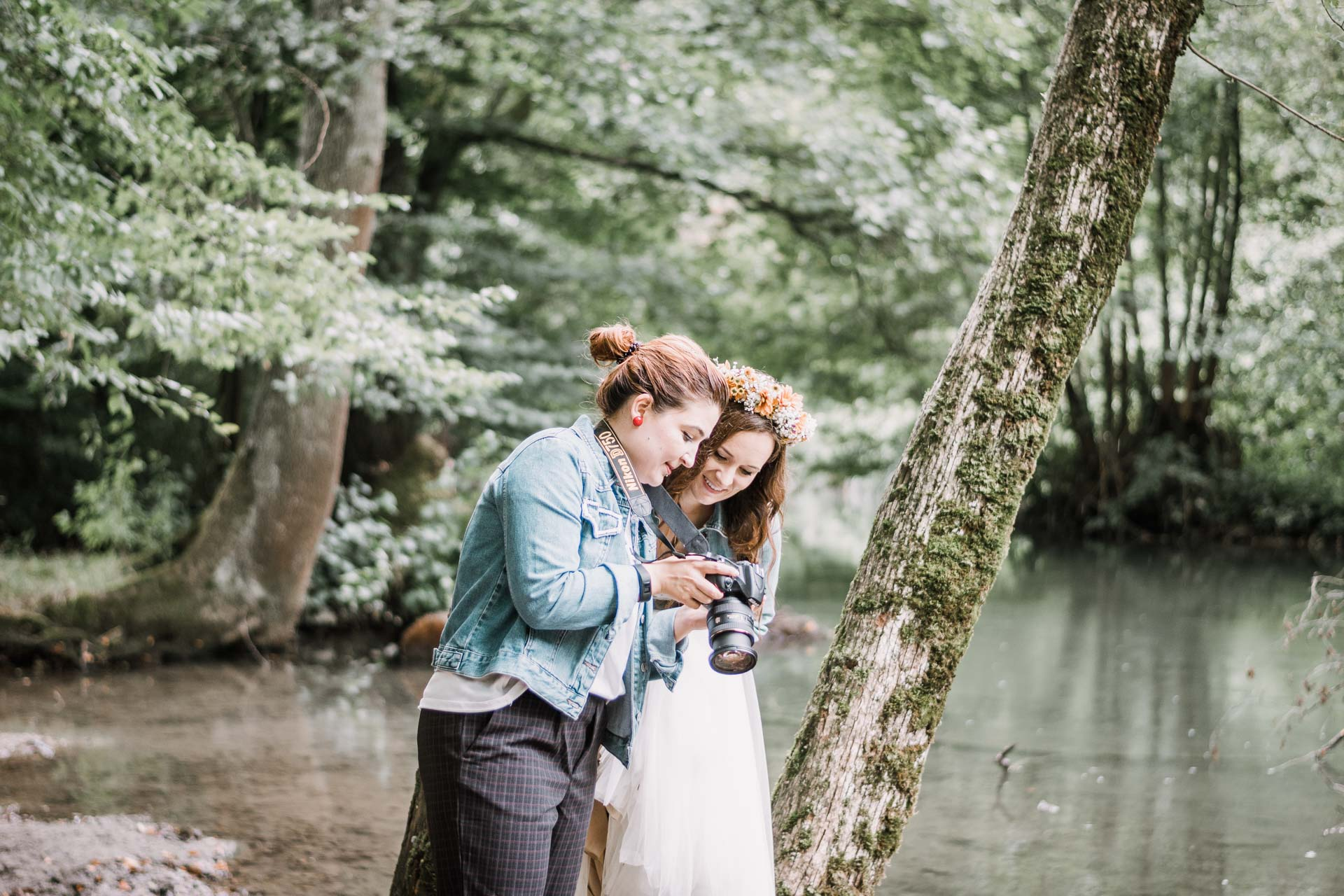 After Wedding Shooting Wald Catografie