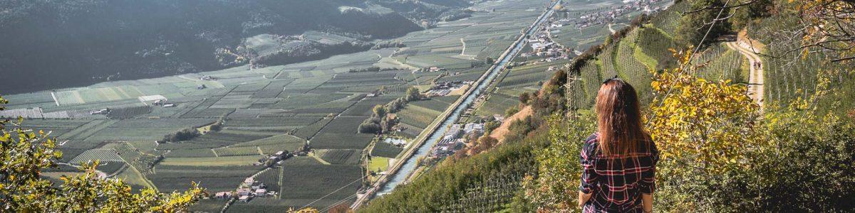 Waalweg Wanderung Südtirol Herbst