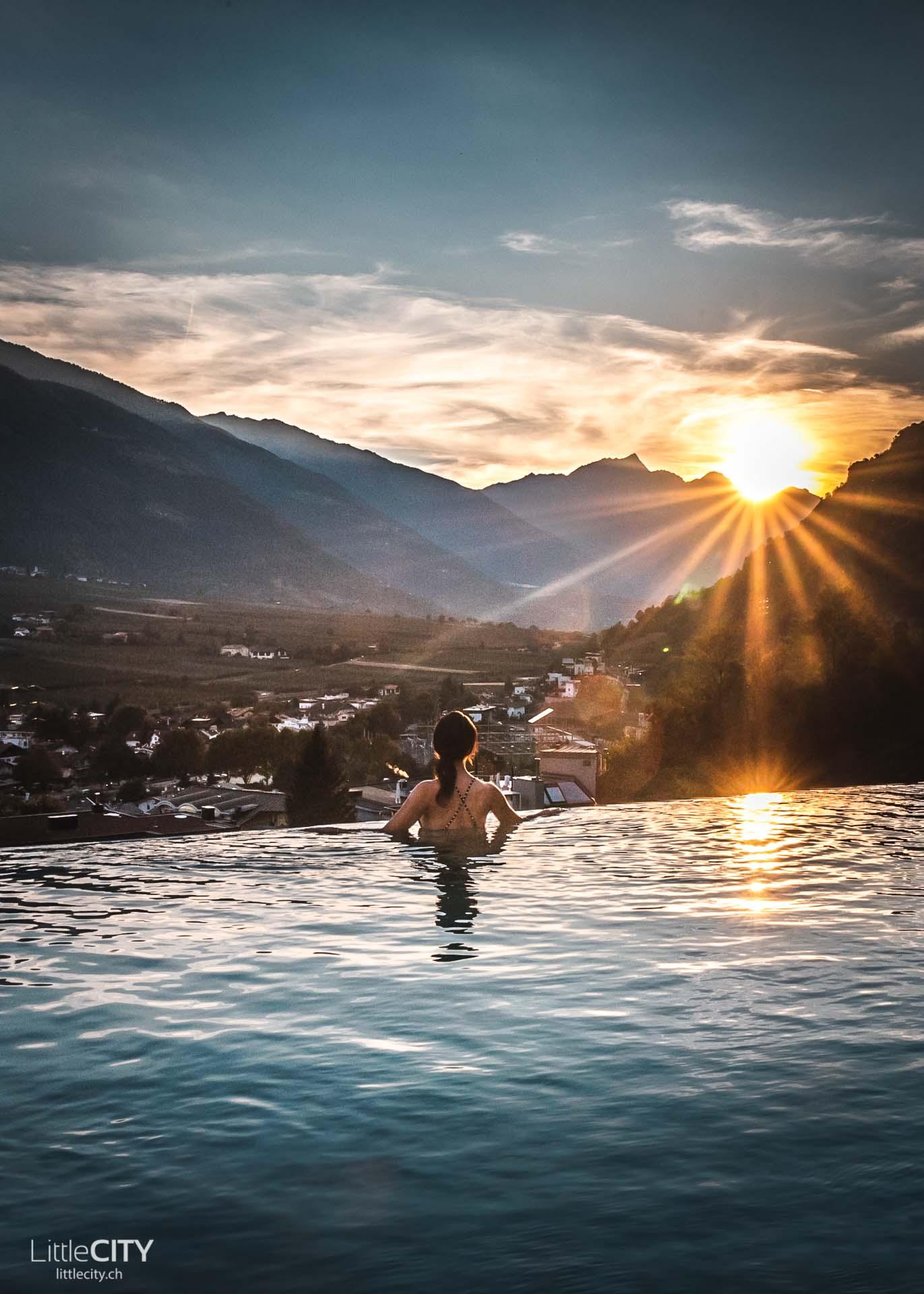 Preidlhof Dolce Vita Resort Infinity Pool Südtirol