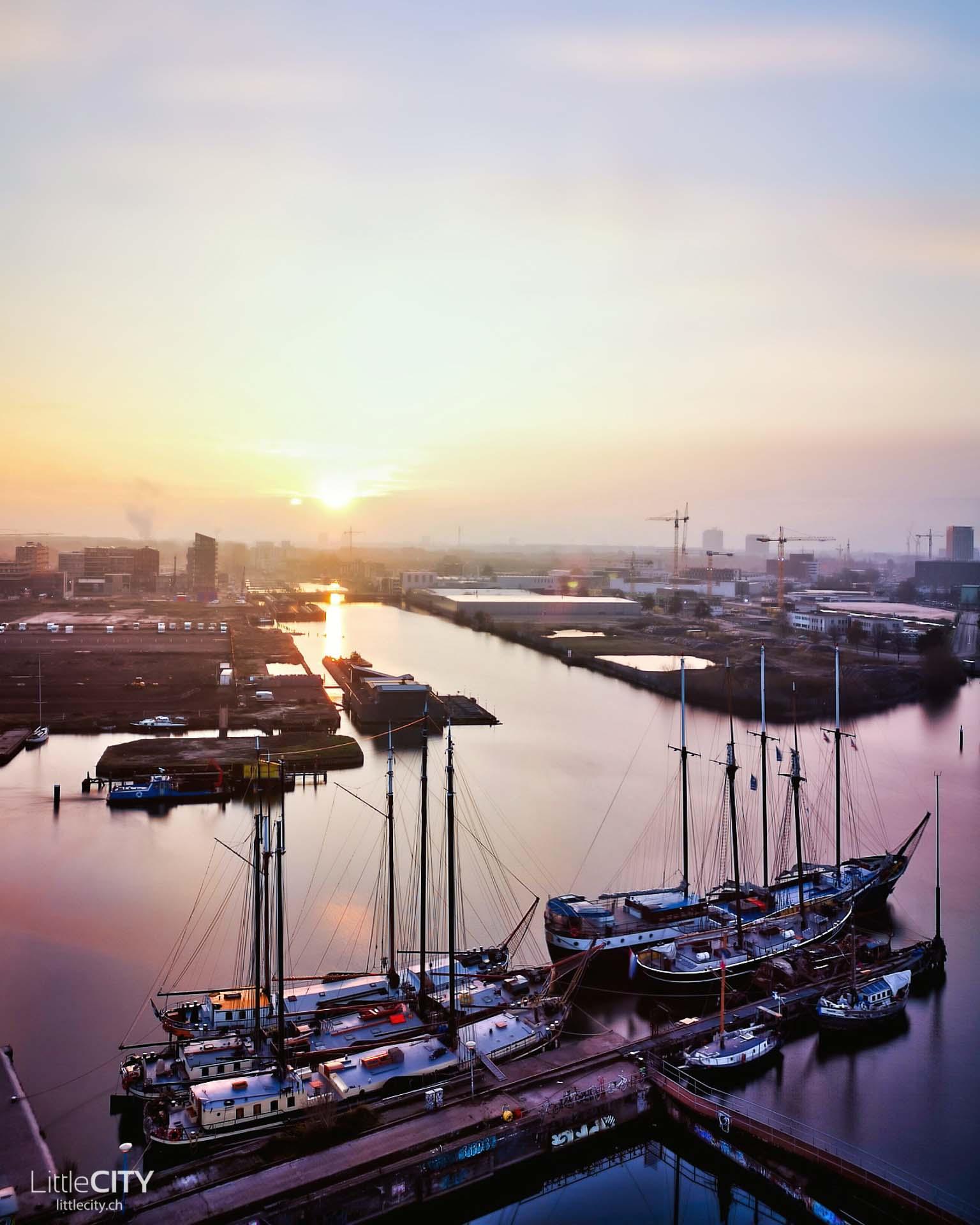 Amsterdam Ndsm Werf Sonnenaufgang