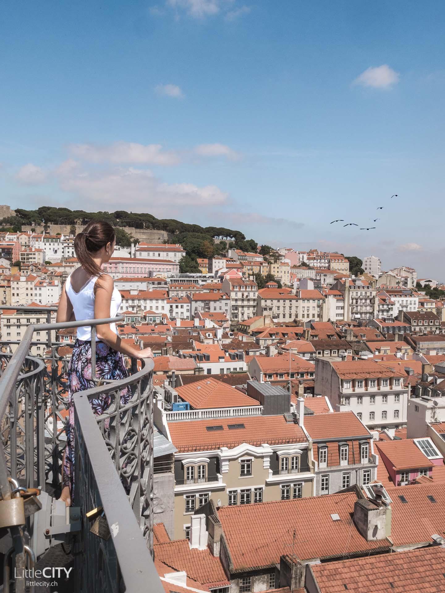 Lissabon Lift de Santa Justia Sehenswürdigkeiten