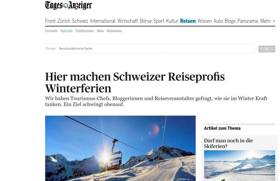 Tages Anzeiger Reiseblogger