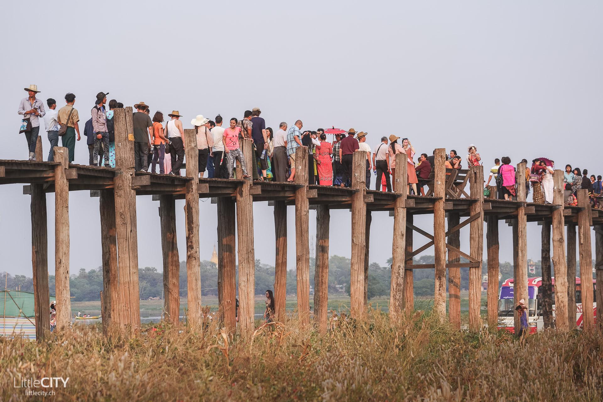 U Bein Brücke Mandalay Sehenswürdigkeiten