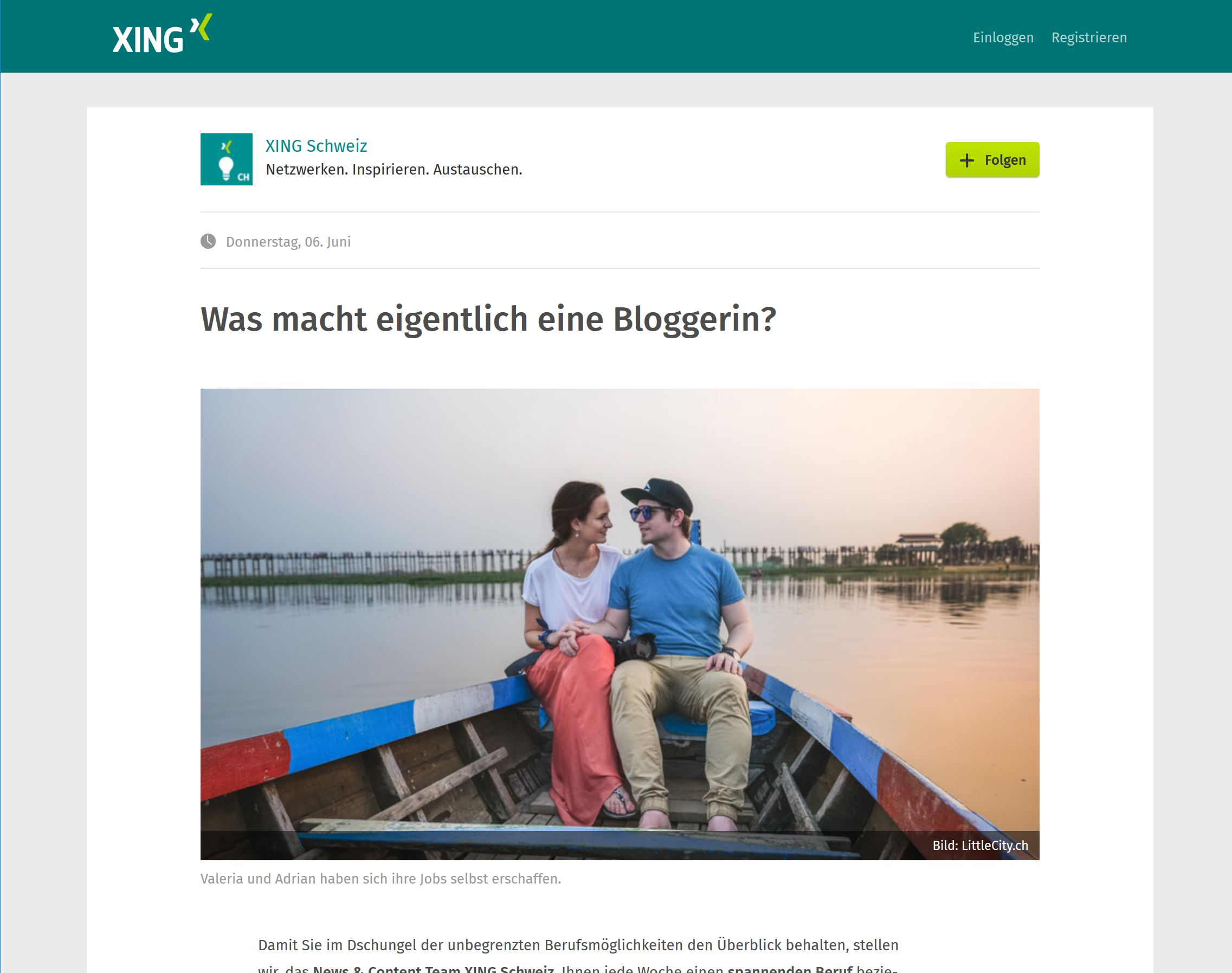Xing Beruf Blogger Interview LittleCITY