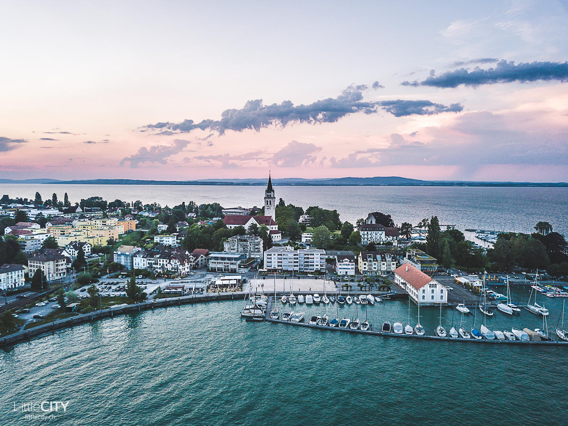 Bodensee Schifffahrt Sonnenuntergangsfahrt Romanshorn
