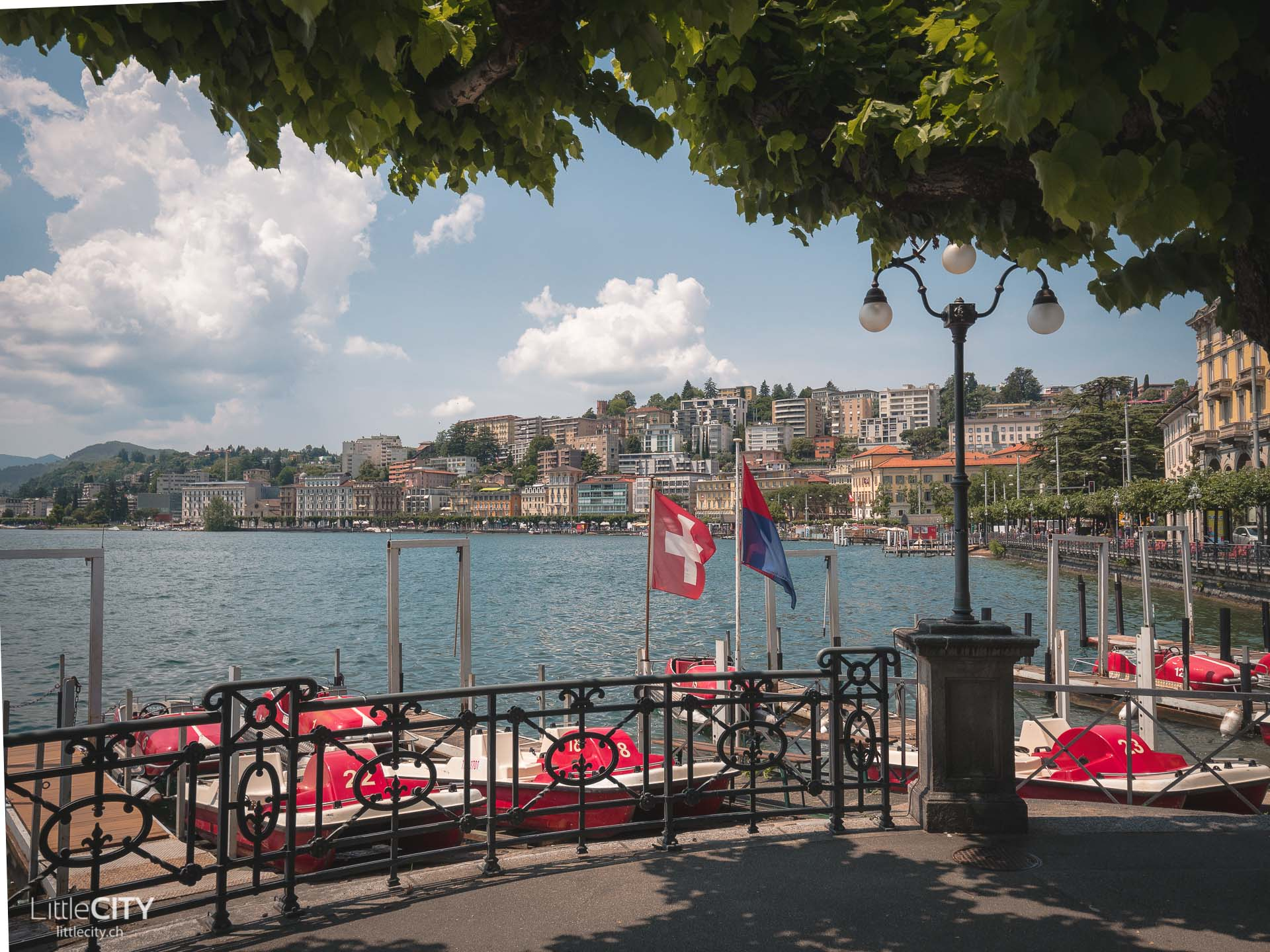 Lugano am Luganersee