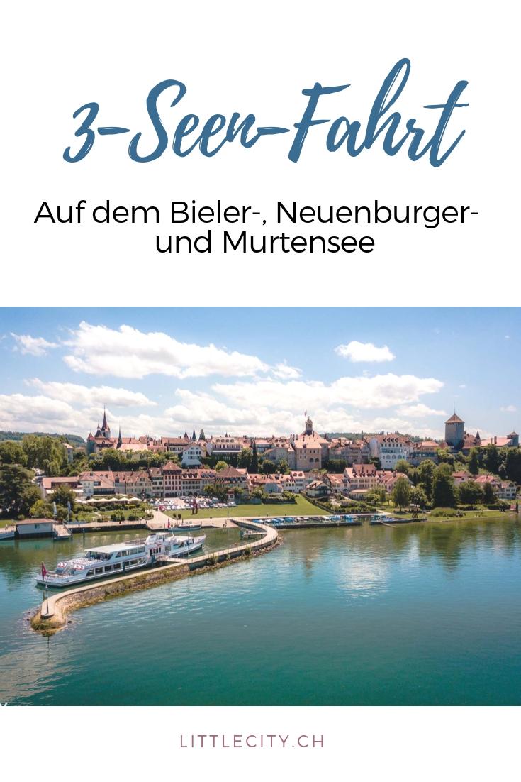 3-Seen-Fahrt auf dem Bieler Neuenburger und Murtensee