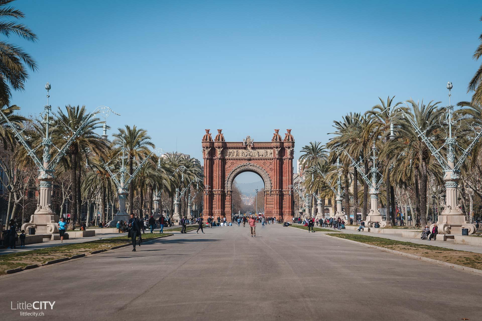 Barcelona Arc de Triomf Sehenswürdigkeiten