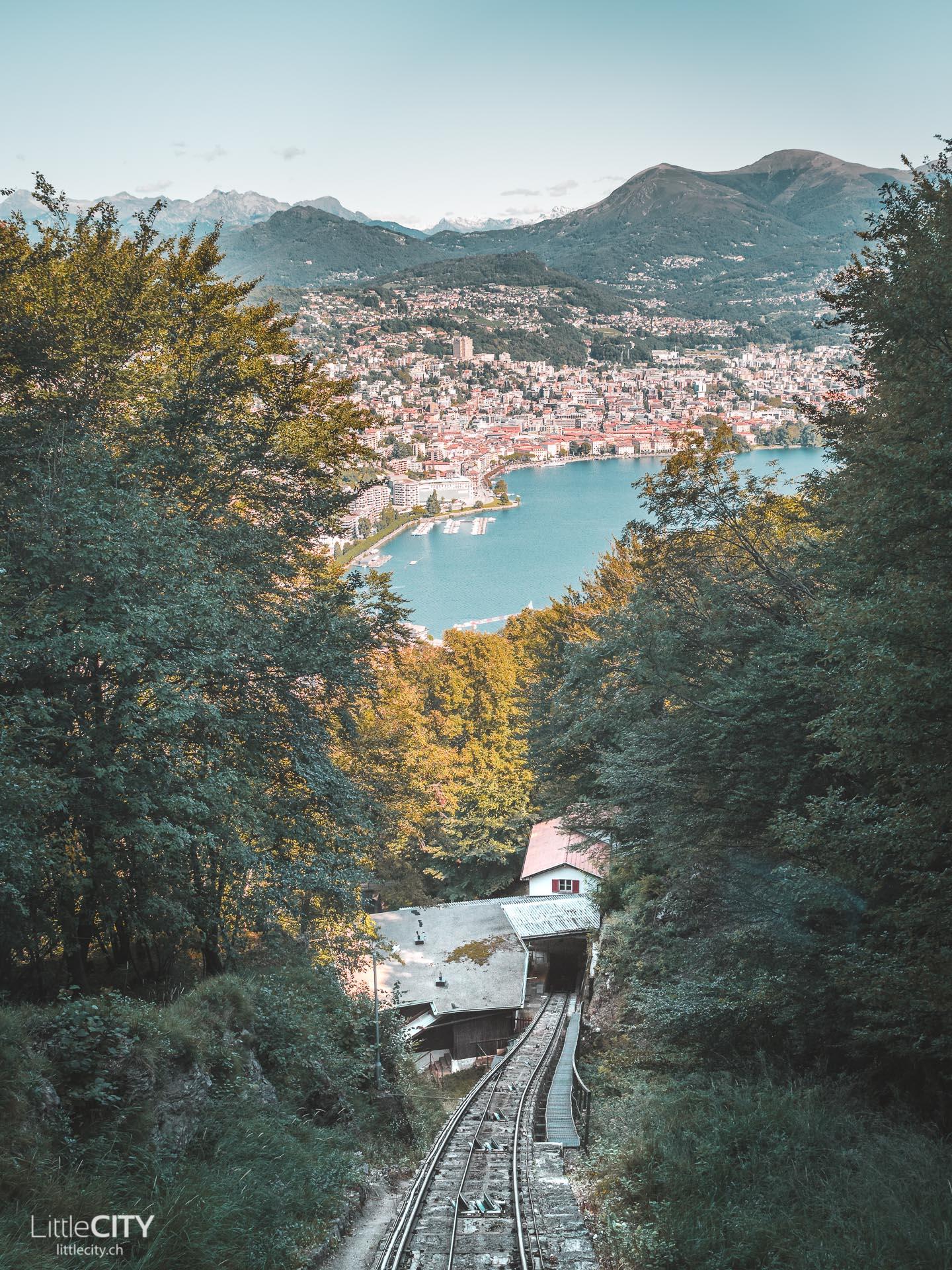 Monte San Salvatore Standseilbahn ab Paradiso