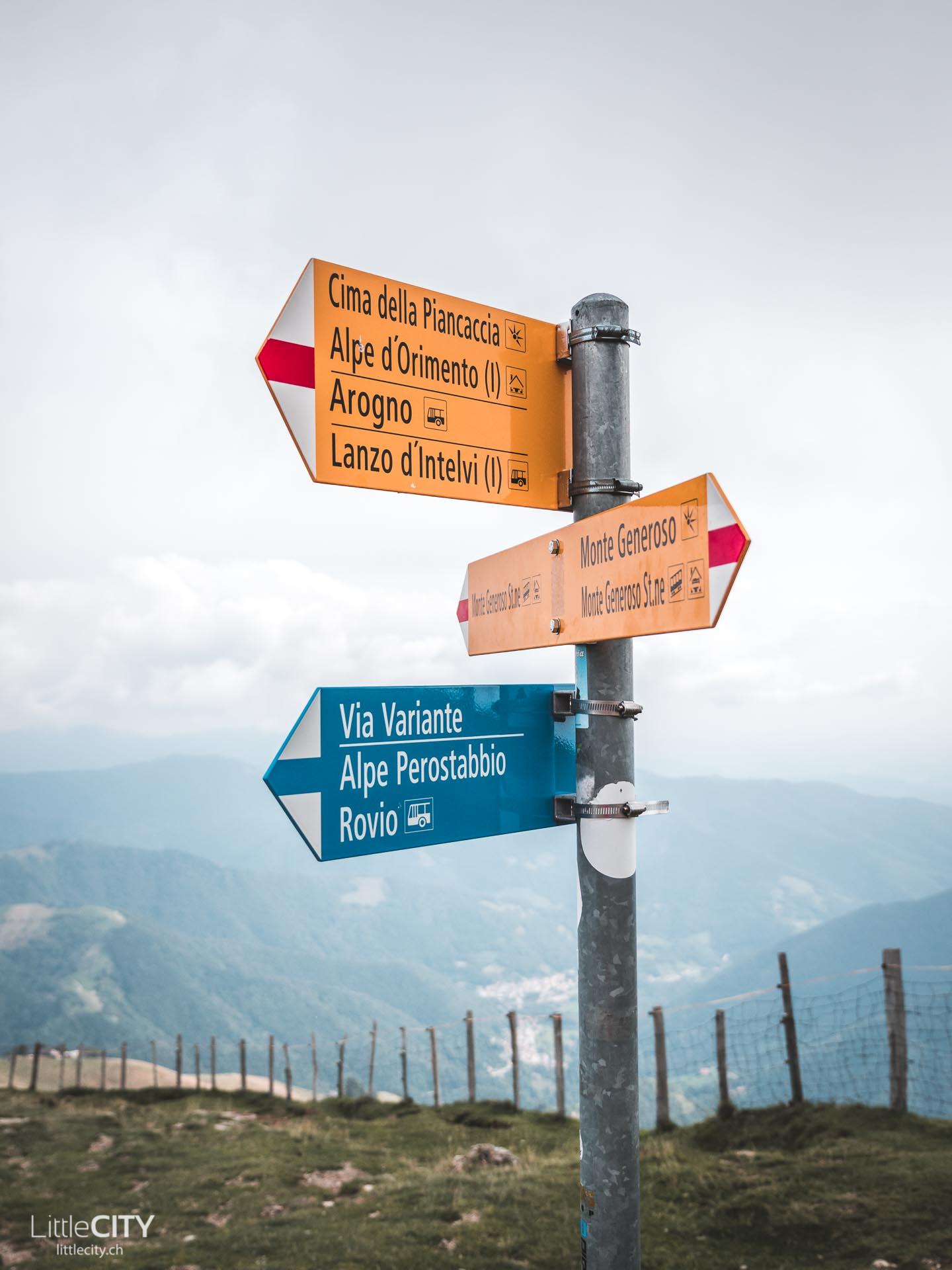Wanderwege Monte Generoso