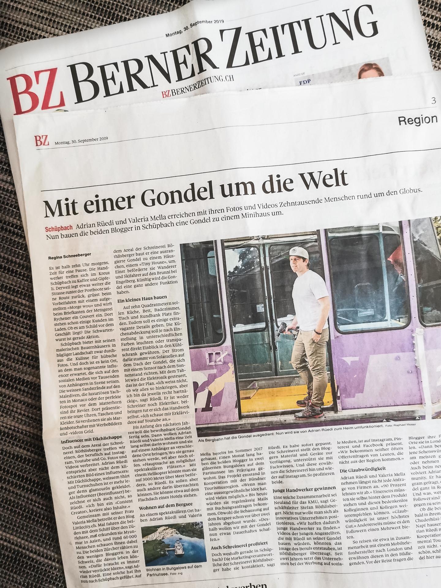 Berner Zeitung Tiny House Gondel