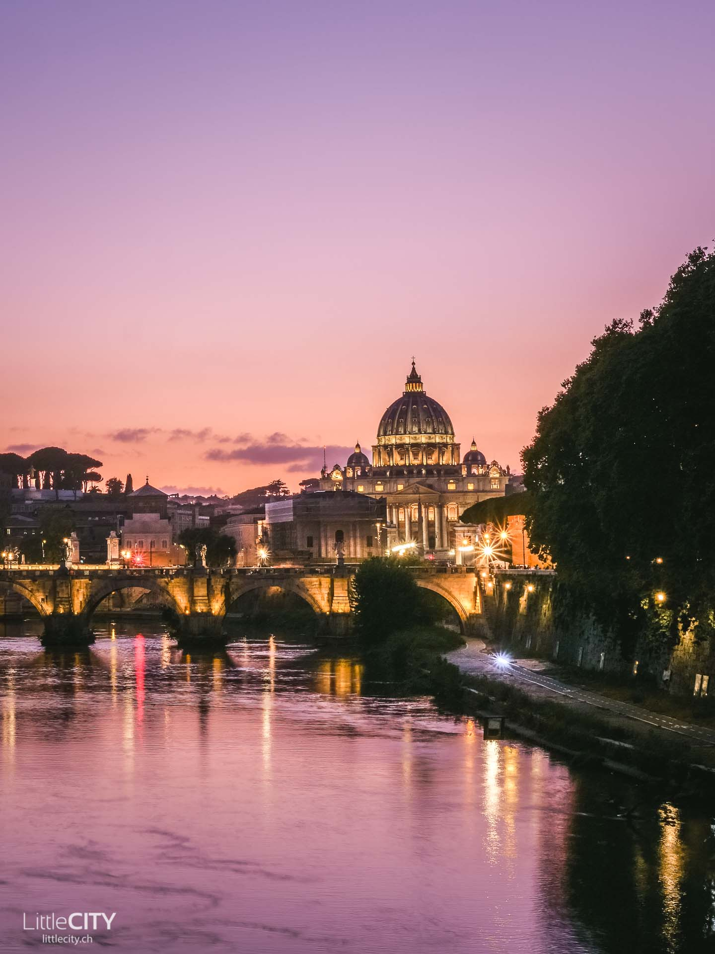Ponte Umberto - Fotospot bei Sonnenuntergang Rom Insider Tipp