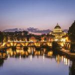 Rom Sonnenuntergang am Tiber