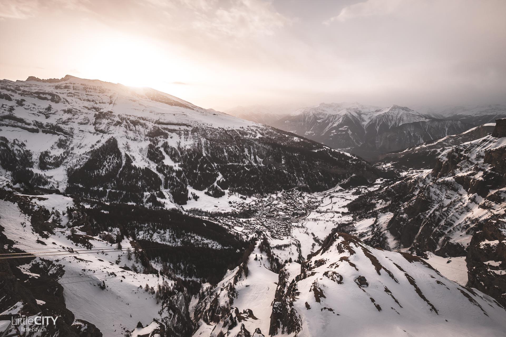 Gemmipass Leukerbad Sonnenuntergang Ausflugsziel Schweiz