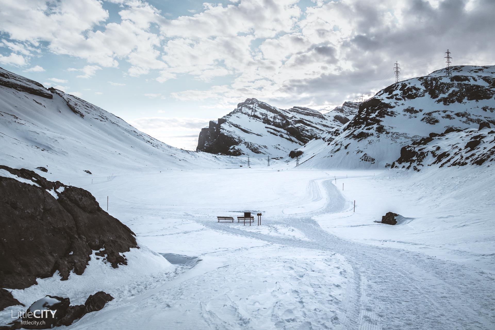 Gemmipasswanderung Daubensee im Winter