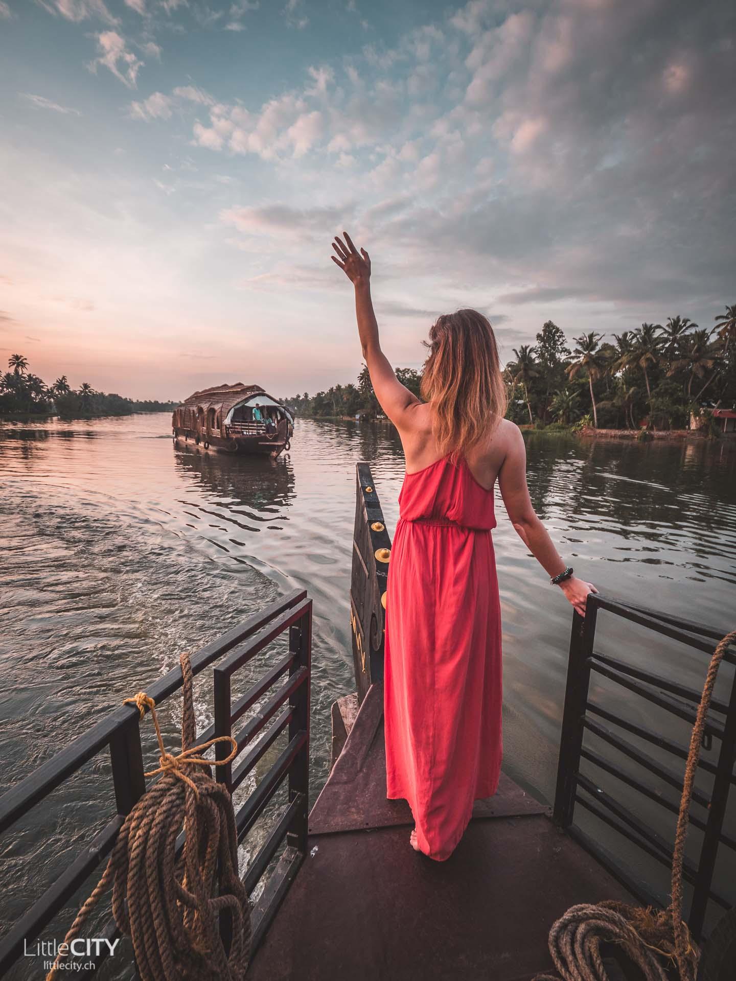 Kerala Backwaters Aleppey Indien