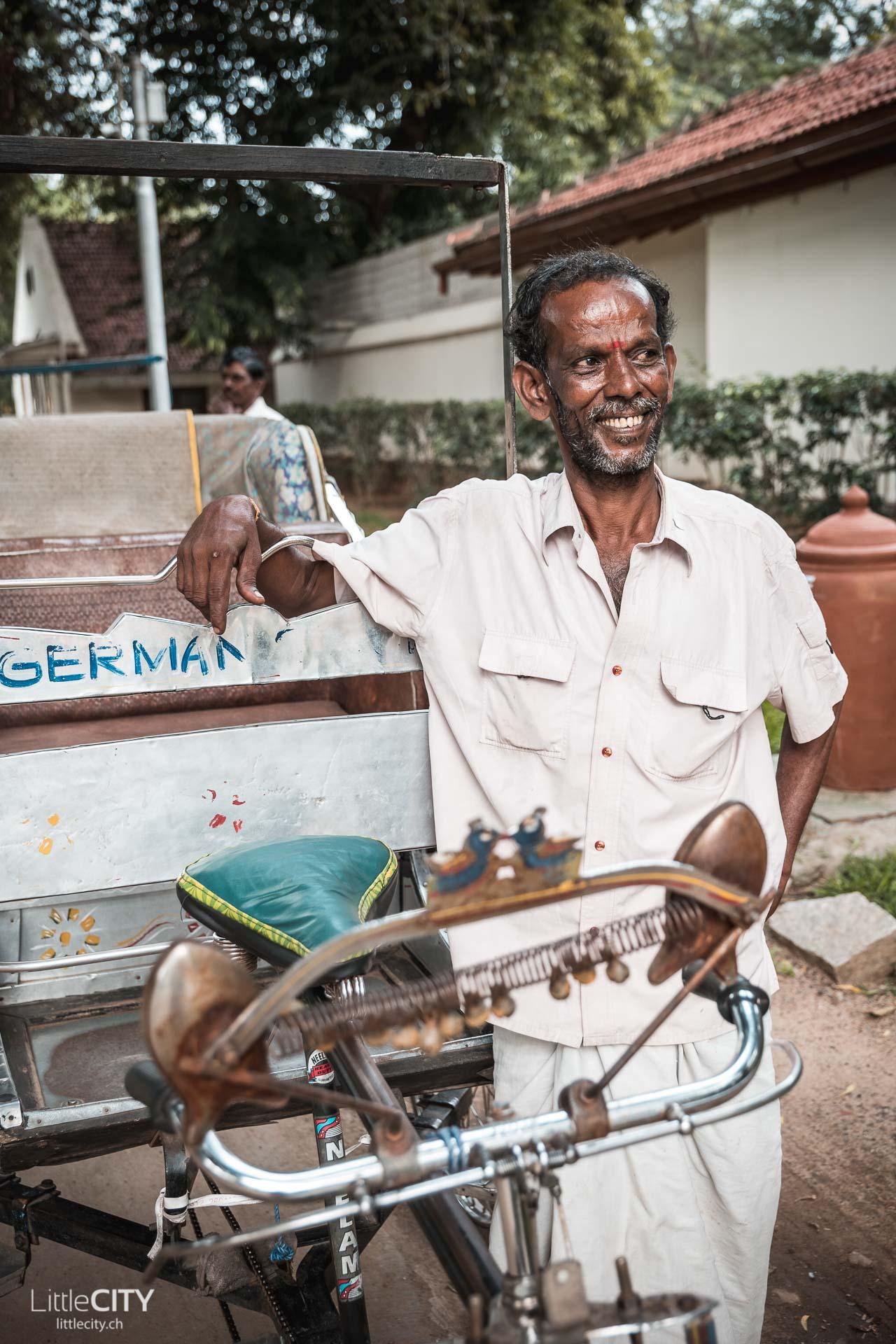 Madirai Tamil Nadu Fahrrad Rikshaw Reise