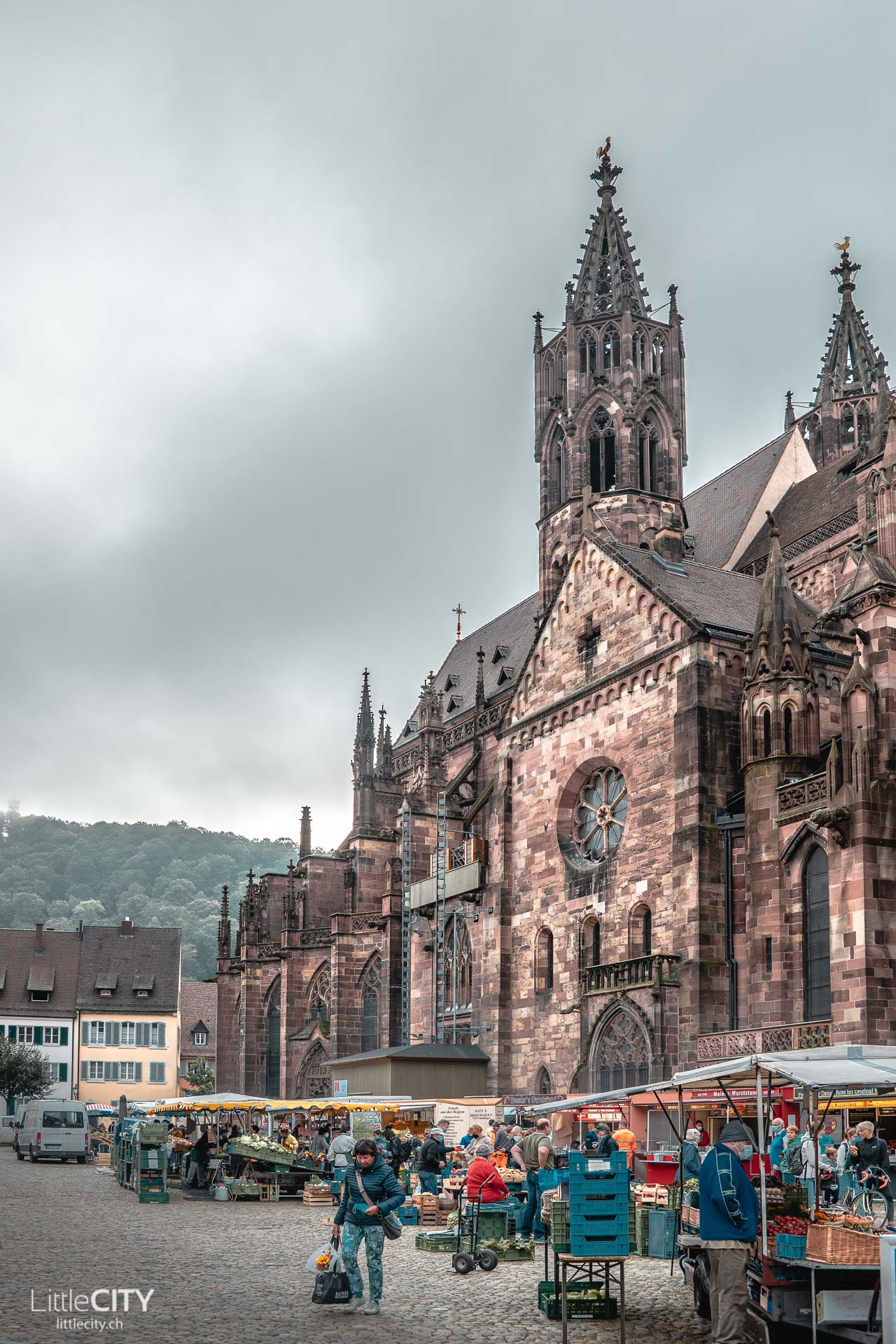 Freiburg Münstermarkt Münsterplatz